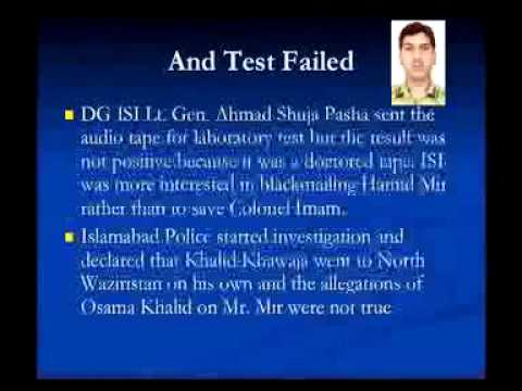 Conspiracy against Col. Imam and Khalid Khawaja.