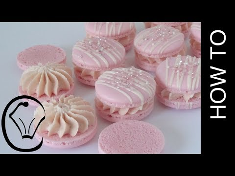 Easy Raspberry French Macarons - NO Resting! by Cupcake Savvy's Kitchen