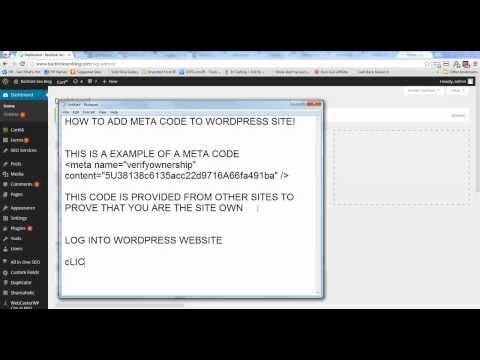 Wordpressproblem - how to add meta tag to wordpress header