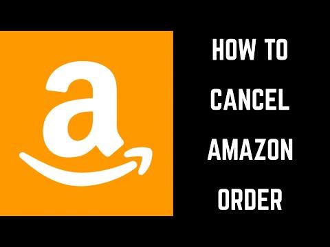 How to Cancel Amazon Order