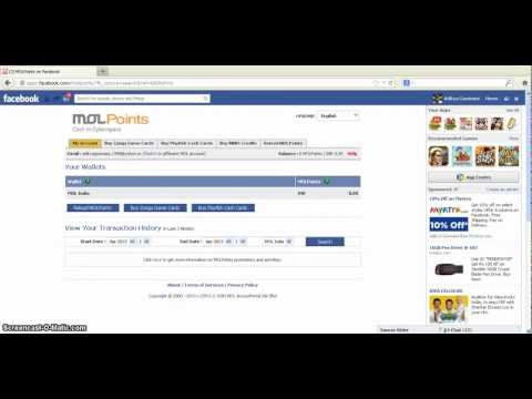 How to buy 'Facebook Credits' through MOL Points !!