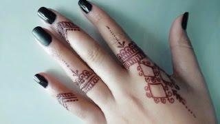 #x202b;نقش بسيط بالحنة البنية | Henna Design#x202c;lrm;