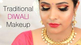 Traditional DIWALI Makeup Tutorial (Hindi) - Indian Festival Look for Beginners | Shruti Arjun Anand