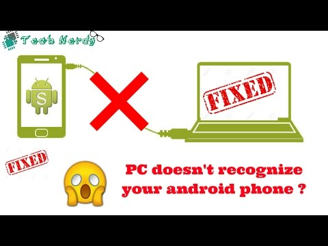 your PC doesn't recognize your android phone ? || 100% working || Problem Fixed||