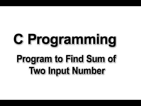 Program to find sum of two input numbers