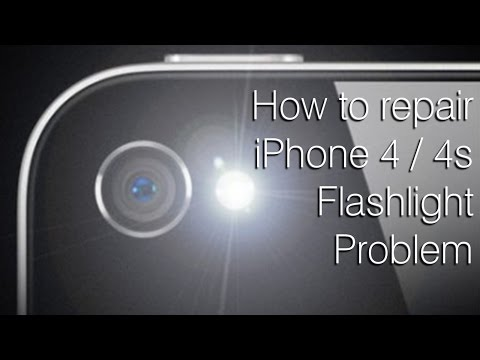How to fix iPhone 4 / 4S flashlight problem [destructive fix]