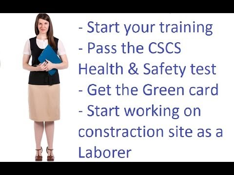 Training for successful passing the New CSCS Health and Safety test