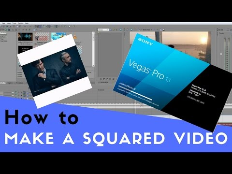 HOW TO MAKE SQUARE VIDEOS & ADD WHITE BORDERS (Sony Vegas Pro Tutorial) svp