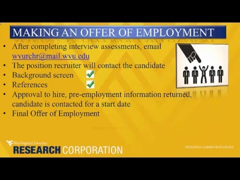 Making an Offer of Employment