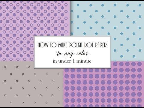 How to make a polka dot background