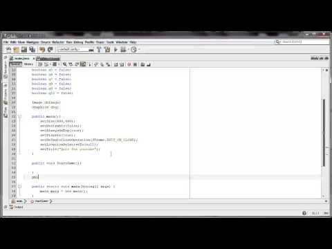 Making a Java Quiz part 3 Double Buffering