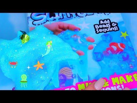 How To Make Slime - Mermaid Slimy Gloop! DIY Glitter Ocean Slime, Satisfying Floam Slime, ASMR Slime