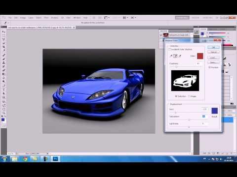 ADOBE PHOTOSHOP CS 5  Paint car tutorial