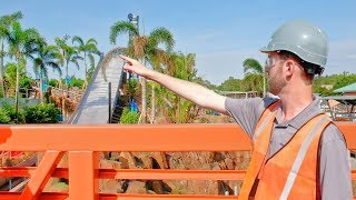 Infinity Falls raft ride CONSTRUCTION TOUR at SeaWorld Orlando