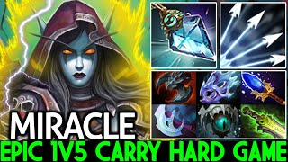 MIRACLE [Drow Ranger] Epic 1v5 Carry Hard Game Insane Arrows Damage Dota 2