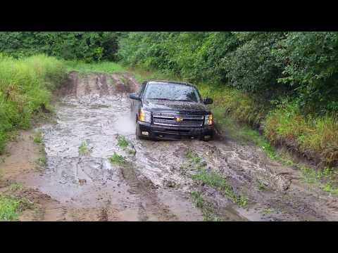 Vincent gets his new Chevy Silverado stuck in a mud hole