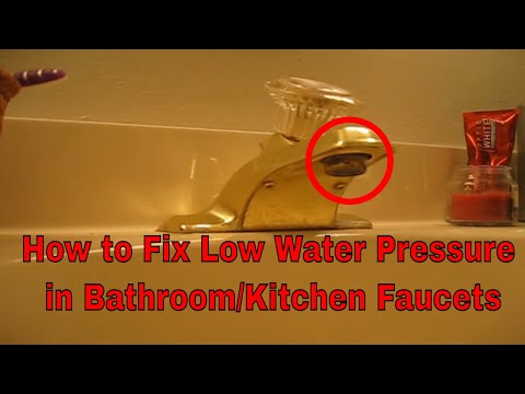 How to fix a clogged bathroom vanity sink faucet Aerator with slow water flow