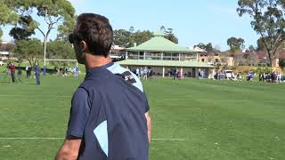 Andrew Johns gives Nathan Cleary a short kicking tutorial