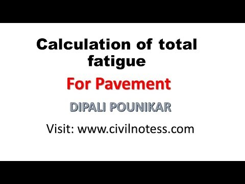 Calculation of total fatigue for pavement by DIPALI