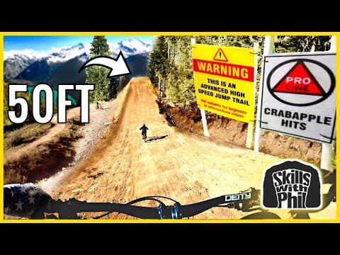 Sending the BIGGEST jumps at Whistler bike park on a TRAIL BIKE! | Crabapple Hits