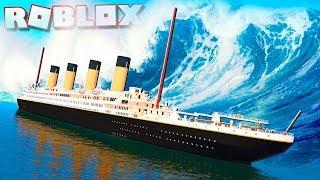 Roblox Adventures - TSUNAMI vs. TITANIC IN ROBLOX! (Titanic Tsunami Survival)
