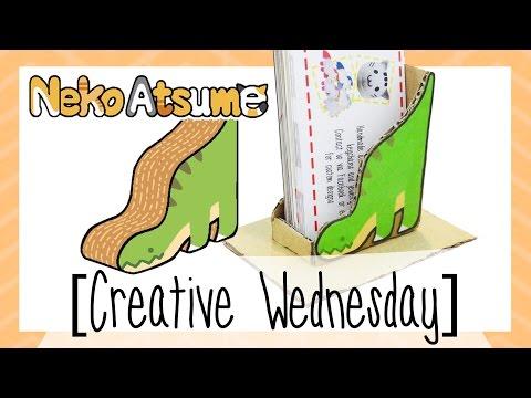 DIY NEKO ATSUME'S DINO DELUXE INSPIRED NAMECARD HOLDER! (FREE TEMPLATE) [CREATIVE WEDNESDAY]