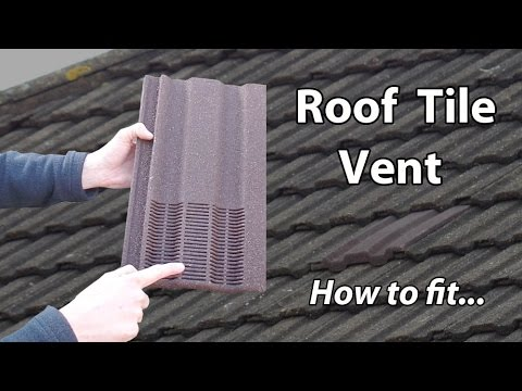 Roof Ventilation Tile & Bathroom Exhaust Vent Extractor