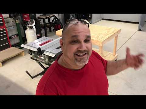DIY Table Saw Out Feed Table