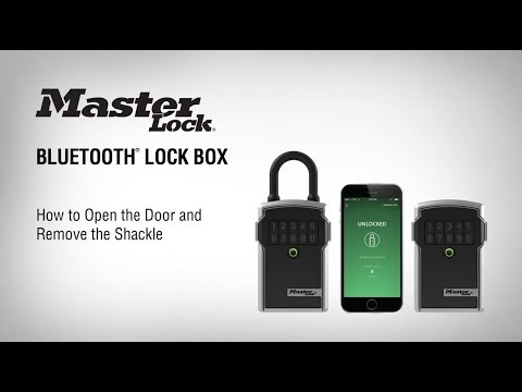 How to Open the Door and Remove the Shackle on your Master Lock® Bluetooth® Lock Boxes
