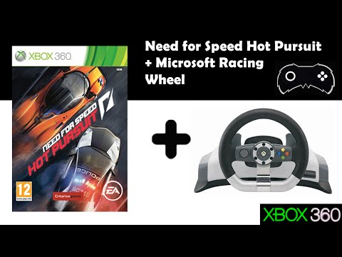Need for Speed Hot Pursuit + Volante Microsft Wireless Racing Wheel xbox 360