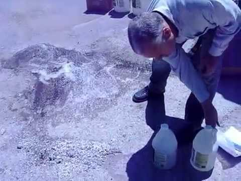Clean/ Remove oil stain from asphalt driveway, Oil Solutions....
