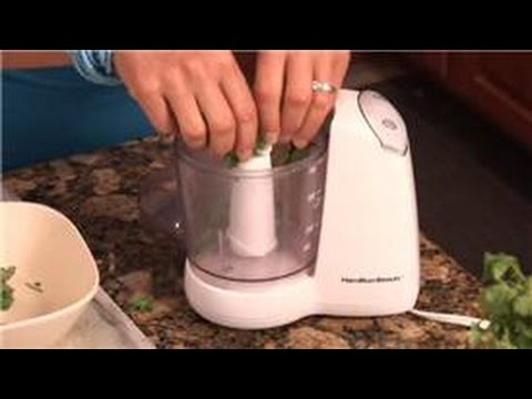 Cooking With Cilantro : How to Chop Cilantro in a Blender