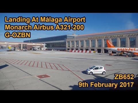Landing At Málaga Airport 9th February 2017