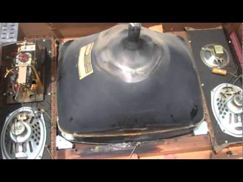 stripping magnavox removing safety glass from crt