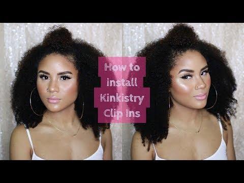 HOW TO: INSTALL KINKISTRY CLIP INS | NATURAL HAIR | CURLSFOTHEGIRLS