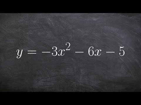 Complete the square to write the equation from standard form to vertex form