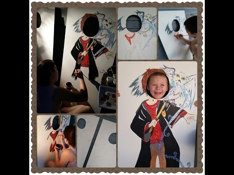 DIY Photo Booth for Harry Potter Themed Party