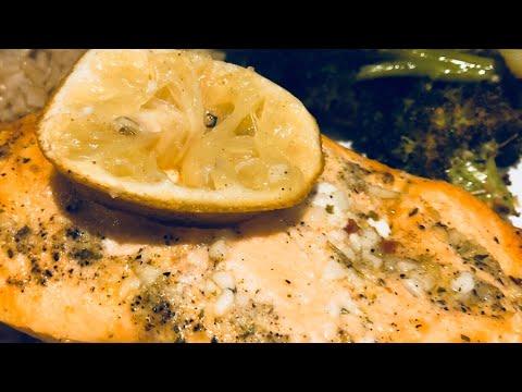 One Pan Salmon and Broccoli
