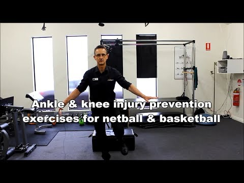 Ankle & knee injury prevention exercises for netball & basketball by Adelaide Physiotherapist