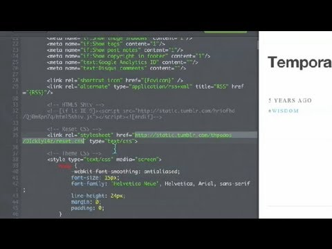 How to Find CSS Source Files of Tumblr Themes : CSS & PHP