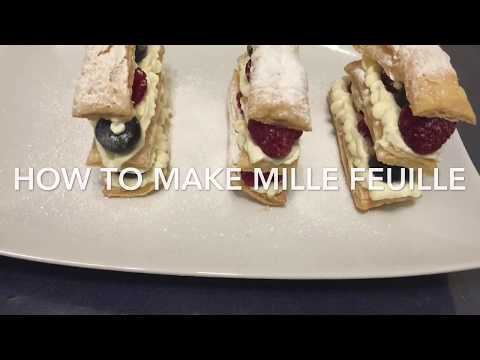How To Make Mille Feuille/ French Dessert Recipe