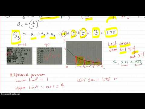 Calculator methods for finding Partial sums and Series sums