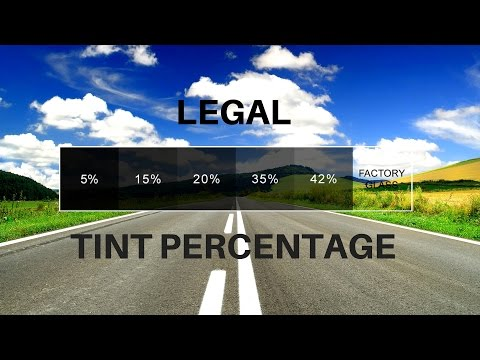 Window Tinting | How to find what tint percentage is Legal in your state.