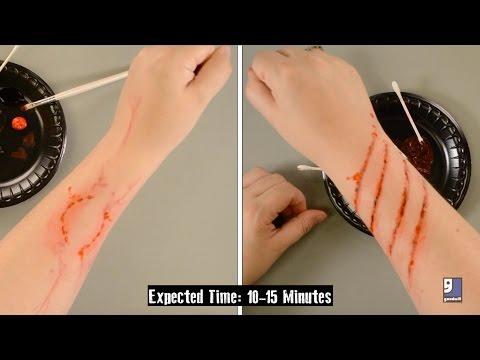 DIY Zombie Bites & Scratches Tutorial