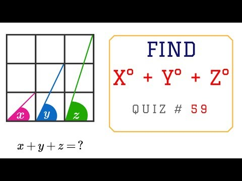Math Problems with Answers - Find x + y + z ?