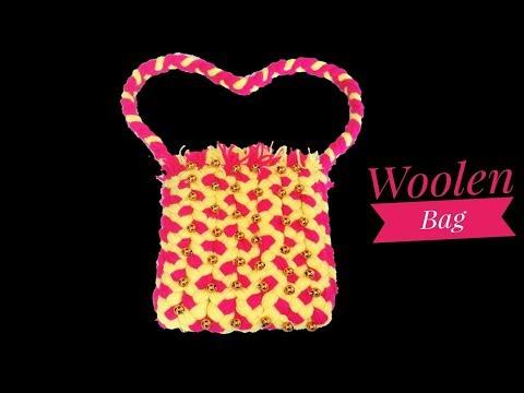 Woolen bag making, Handmade purse, Easy hand bag