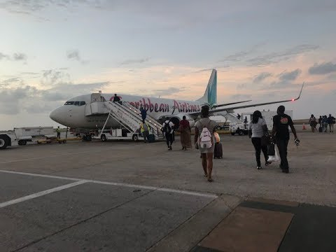 Caribbean Airlines (BWA414) Taking off from Barbados to Trinidad