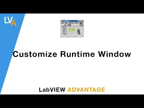 How to customize runtime Window - LabVIEW
