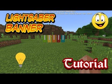 Minecraft Pe How To Make LightSaber Banner