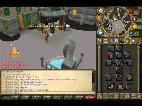 Runescape- Me Buying some stuff with my loyalty point's